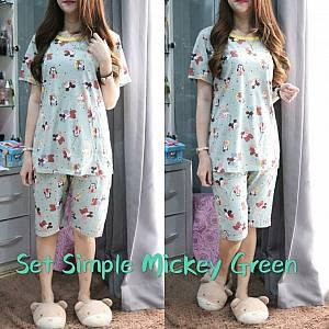 Bc set simple mickey green