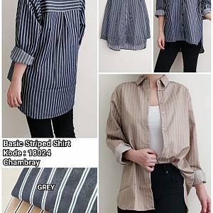 Soya Basic Striped Shirt