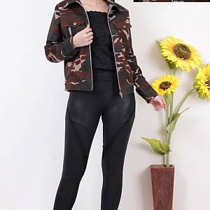 1). sL- Millitary Jacket sleting Cokelat Tua