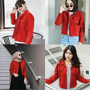 Jaket moana merah