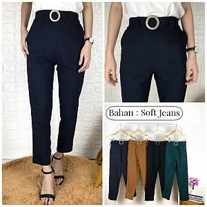 Celana Gesper soft jeans