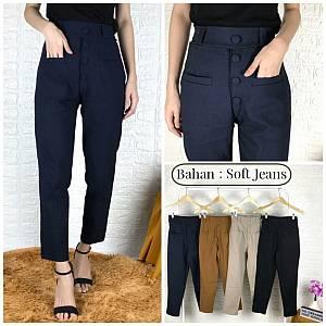 Kancing 4 bahan soft jeans