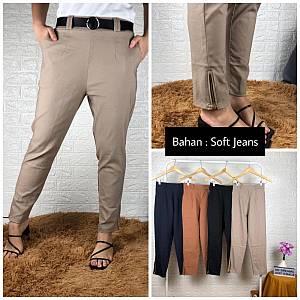 Celana kaki seleting soft jeans
