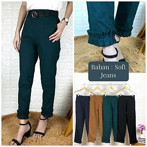 Celana wrample bahan soft jeans