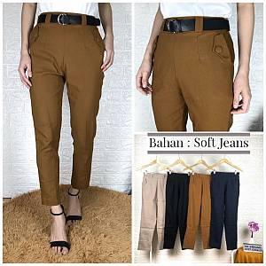 Kantong Kancing bahan Soft Jeans