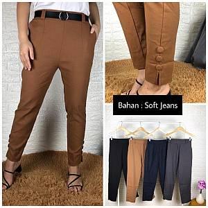 Kancing 3 bahan soft jeans