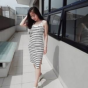 Bc dress rajut white