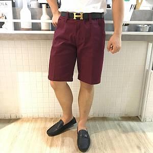Maroon Short Chinos