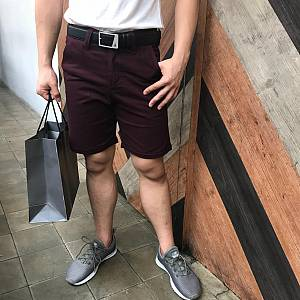 Red Crimson Chinos Shorts