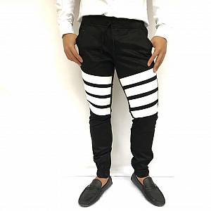 Celana Stripes jogger black