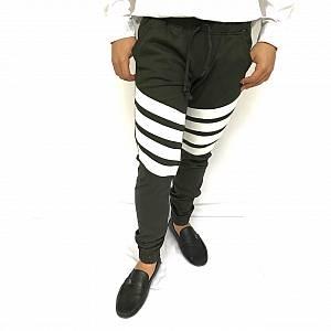 Celana stripes jogger abu tua