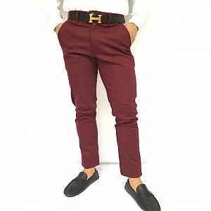 Celana chinos maroon