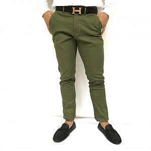 Celana chinos hijau army