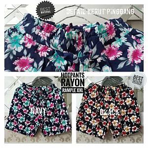 Hotpants Rayon Kembang Rample XXL