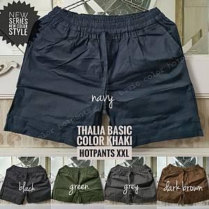 Thalia Basic Color Khaki Hotpants XXL