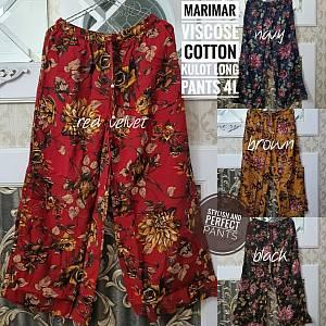 Marimar Viscose Cotton Kulot Long Pants 4L