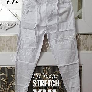 Pjg Jogger Strecth Putih XXL