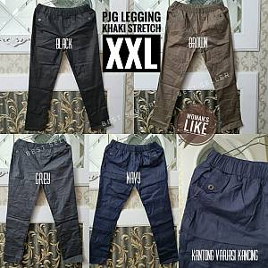 Pjg Legging Khaki Stretch XXL