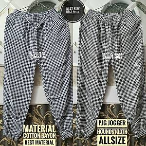 Jogger Houndstooth Rayon Allsize