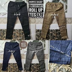 HumVee Baggy Stretch Pants Roll Up Allsize