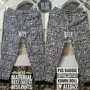 Pjg Baggie Abstract Stretch Kombi Roll Up Allsize