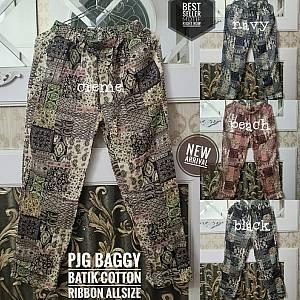 Pjg Baggy Batik Cotton Ribbon Allsize