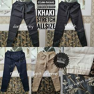 Pjg Jogger Ribbon Khaki Stretch Allsize