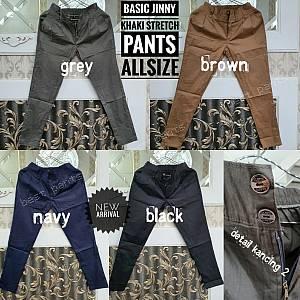 Basic Jinny Khaki Stretch Pants Allsize