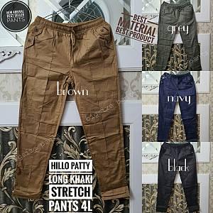 Hillo Patty Long Khaki Stretch Pants 4L