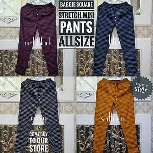 Pjg Baggie Square Mini Stretch Pants Allsize
