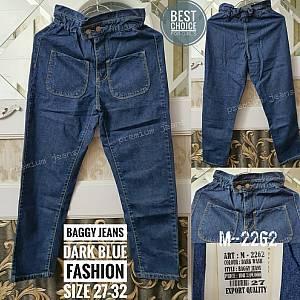 Baggy Jeans Dark Blue Fashion Kantong Depan Size 2