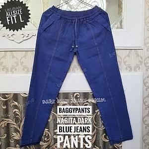 Baggypants Nagita Dark Blue Jeans Allsize