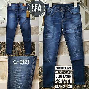 Softjeans Premium Whisker Dark Blue Laser Scratch