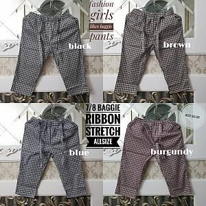 7-8 Baggie Square Ribbon Pants Allsize