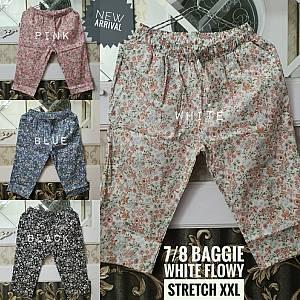 7-8 Baggie White Flowy Stretch XXL