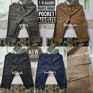 7-8 Gaudi Pants Front Pocket Stretch Allsize