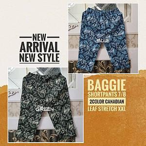 Baggie Shortpants 7-8 2Color Canadian Leaf Stretch