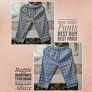 Baggie Shortpants 7-8 BB Square Stretch 2Color All