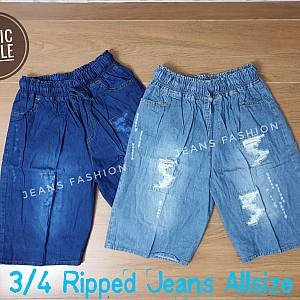 3-4 Jeans Ripped Allsize