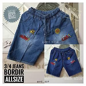3-4 Jeans Bordir Allsize
