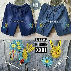 3-4 Jeans Bordir XXXL