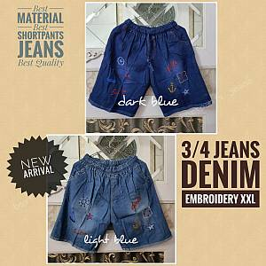 3-4 Jeans Embroidery XXL