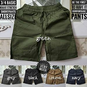 3-4 Basic Khaki Stretch Shortpants Allsize
