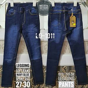 Legging Softjeans Navy Blue Spray Size 27-30