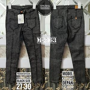 Premium Softjeans Highwaist Snow Black Size 27-30