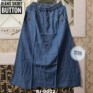 Washed Jeans Denim Skirt
