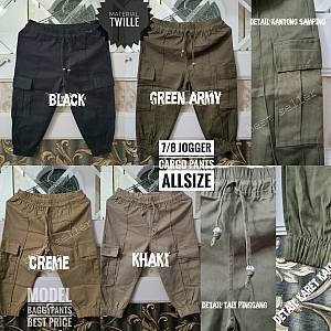 7-8 Jogger Cargo Twille Pants Allsize