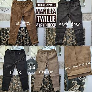Pjg Baggypants Manilla Twille Stretch XXL