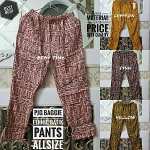 Pjg Baggie Ethnic Batik Pants Allsize