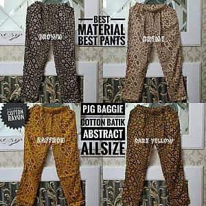 Pjg Baggie Rayon Abstract Batik Allsize